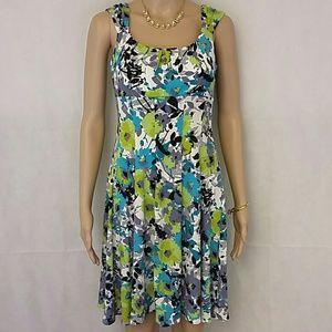 [Maggy L] Beautiful floral green mini dress 6p